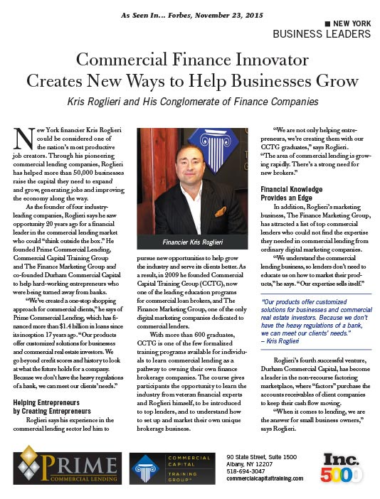 CCTG Founder Featured In Forbes as Innovative Business Leader